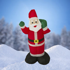 NEW,  4 FT Airblown   Inflatable Santa Claus Christmas Decoration with Inside Lights - LiquidationOutlet.ca