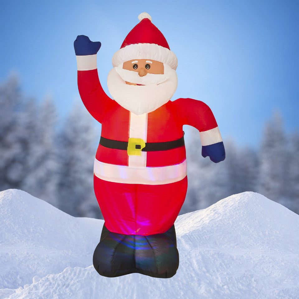 Christmas Inflatable Part - 49: ... NEW,6 FT Airblown Inflatable Santa Claus Christmas Decoration With  Inside Lights 146S7