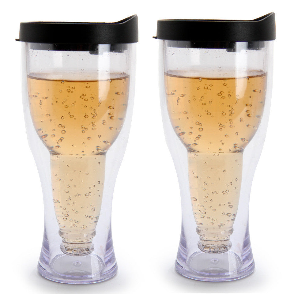 NEW, Winnington 2-Pack Beer Tumblers BPA-free 14 oz (415 ml) - BLACK - LiquidationOutlet.ca