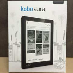 "Kobo Aura 6"" Digital eBook Reader With Touchscreen 4 GB WIFI - Black - NEW OPEN BOX"