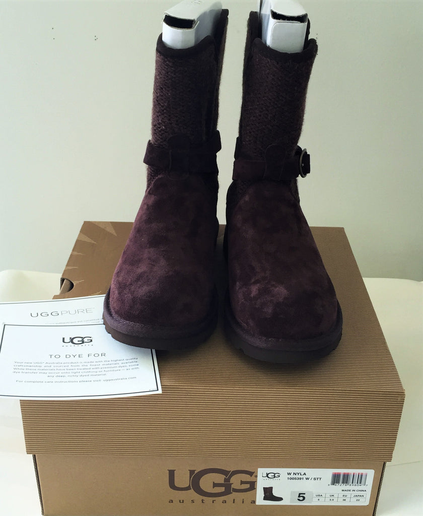NEW, Authentic UGG Australia Ladie's Nyla Boots in Stout- Size 5