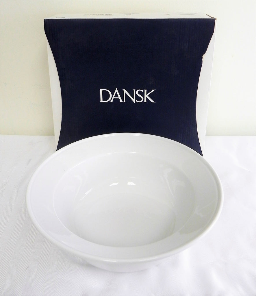 Brand New Dansk Kristaal Serve Bowl White 1.3 qt/1,2L