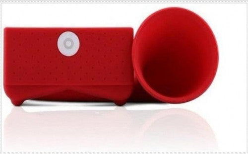 Horn Stand Amplifier Speaker for iPhone 4 - Red - LiquidationOutlet.ca