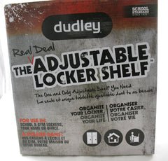 NEW, Dudley The Real Deal Adjustable Locker Organizer Shelf