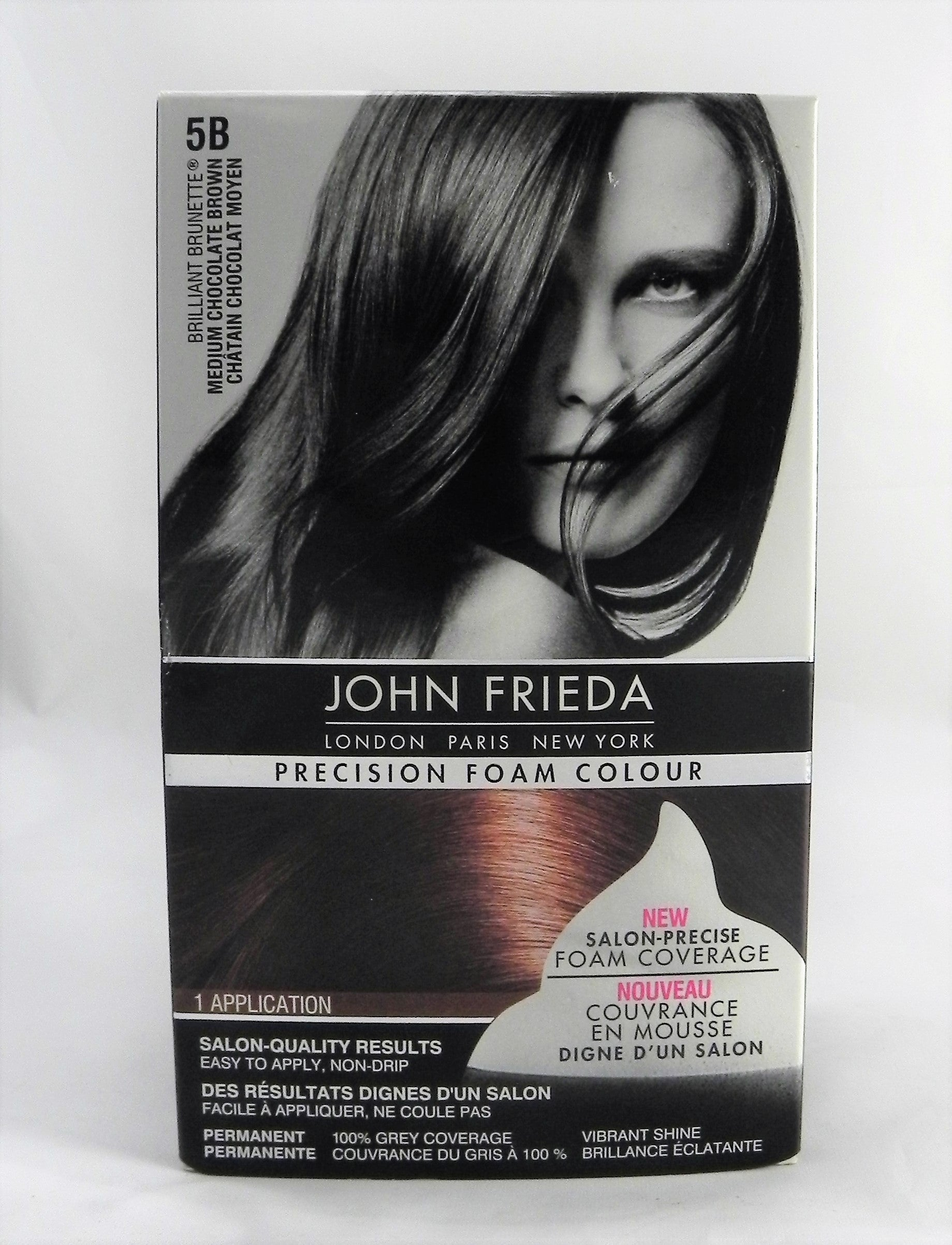 John Frieda Precision Foam Colour Brilliant Brunette Medium Chocolate Brown 5B