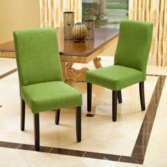New, Set of 2 Parsons Chair Upholstery - Green (open box) *PickupOnly - M