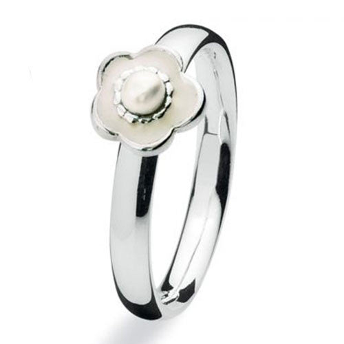 NEW Genuine Spinning Jewelry Stackable Silver Ring 711-02