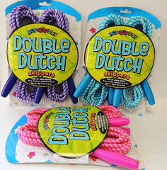 New, Double Dutch Skippers Two 14' Jump Ropes For Ages 5+ (Choose Color)
