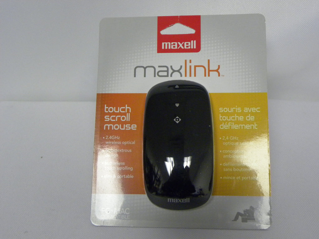NEW, Maxell Touch Wireless Optical Mouse 1600 DPI (191122 )- Black