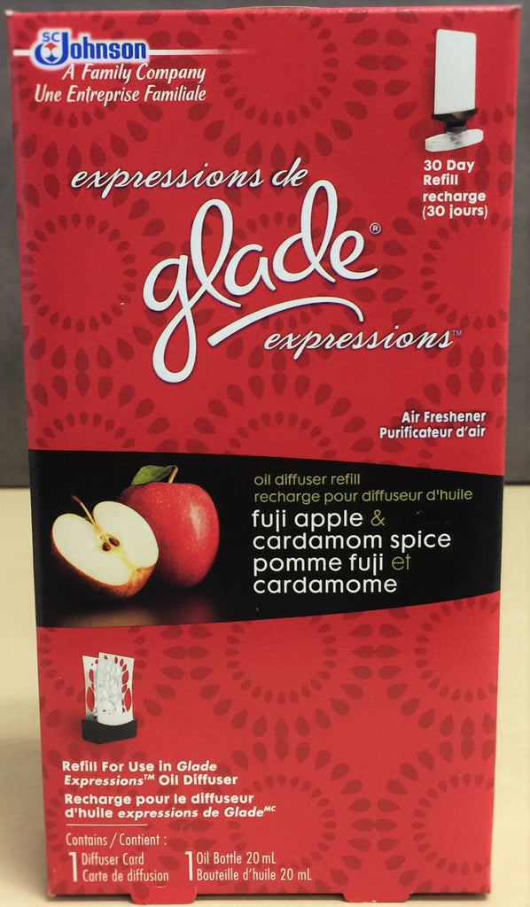 NEW, Glade Expressions Fuji Apple & Cardamom Spice Oil Diffuser Refill - 20 ml