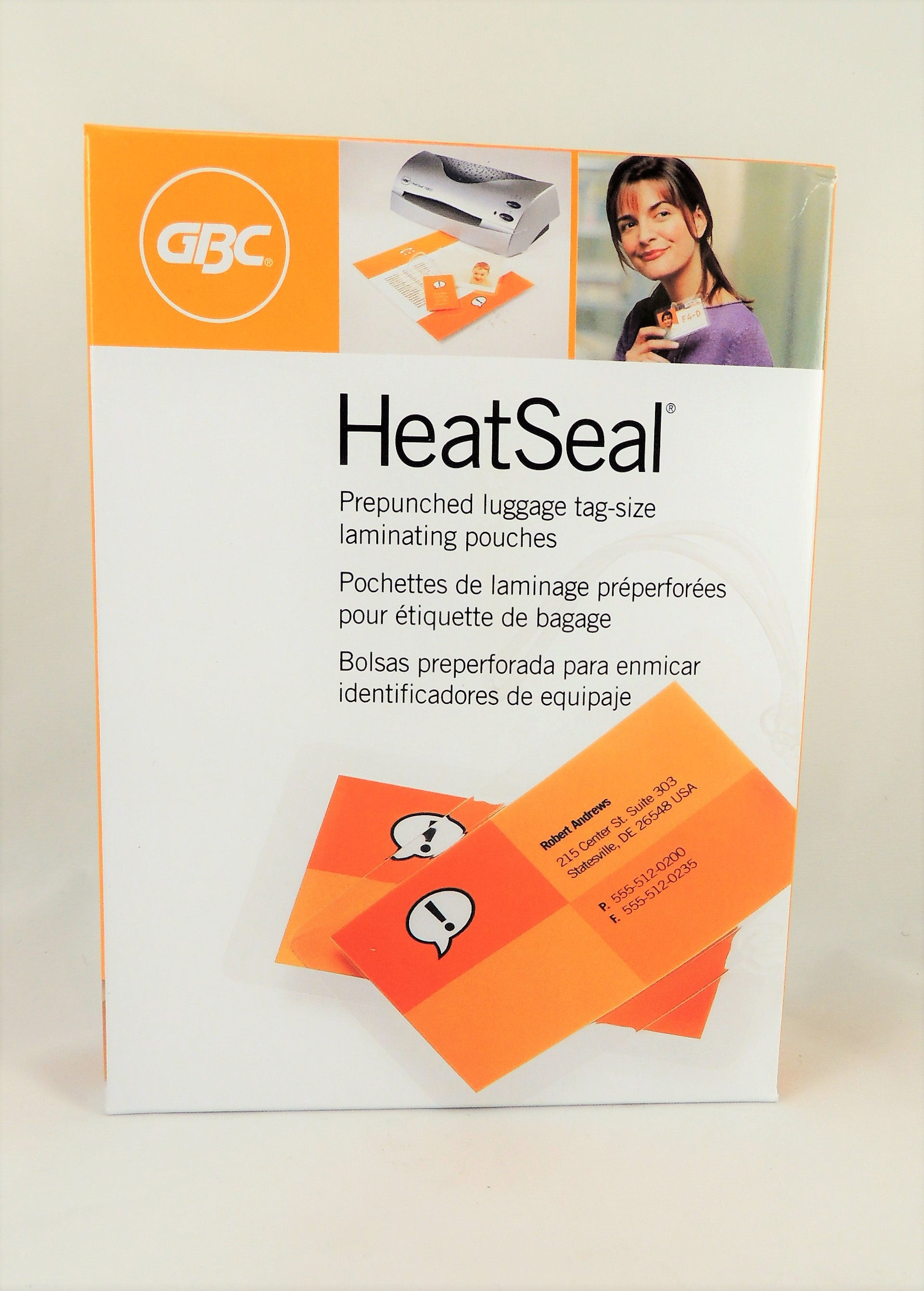 GBC heatseal 5 mil Prepunched Luggage Tag-Size 50 Packs
