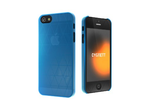 Cygnett CY0857CPPOL Polygon Super Thin Hard Case for iPhone 5 - 1 Pack - Carrying Case - Blue