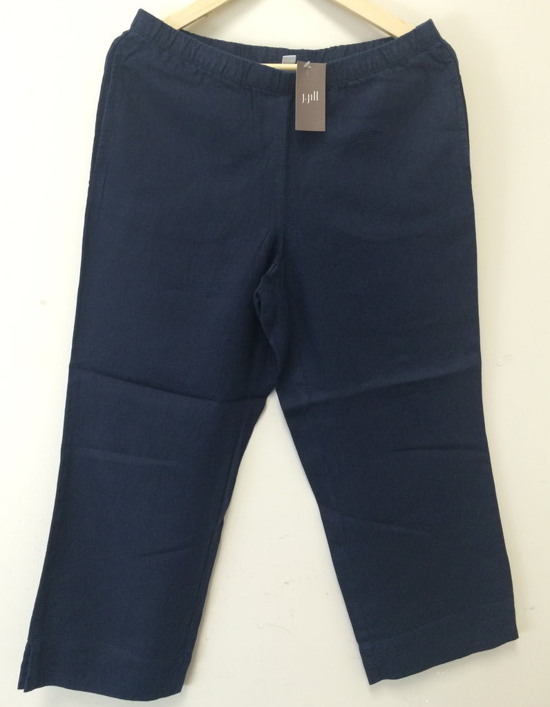 2ea48b59c SALE; New, J Jill Love Linen Women Pants Deep Blue MSRP: $69.00