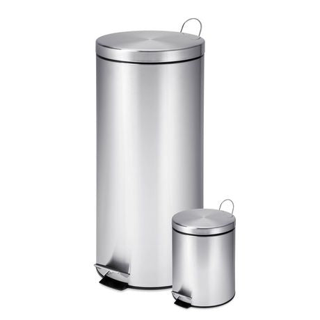 Honey-Can-Do 30 L & 3 L Trash Can Combo (Rust stains on top bin) *PickupOnly - B