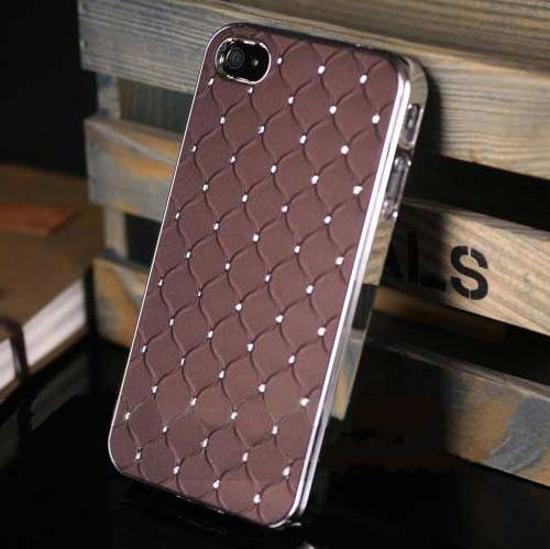 Bling Case for Iphone 4 - Brown