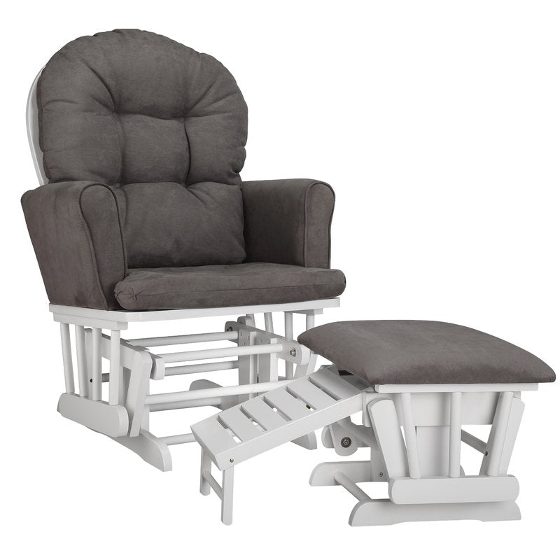Like New, Parker Semi Upholstered Nursing Glider & Ottoman *PickupOnly - G