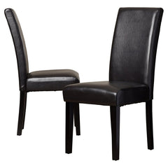 New, Set of 2 Parsons Chair - Dark Brown (open box) *PickupOnly - M