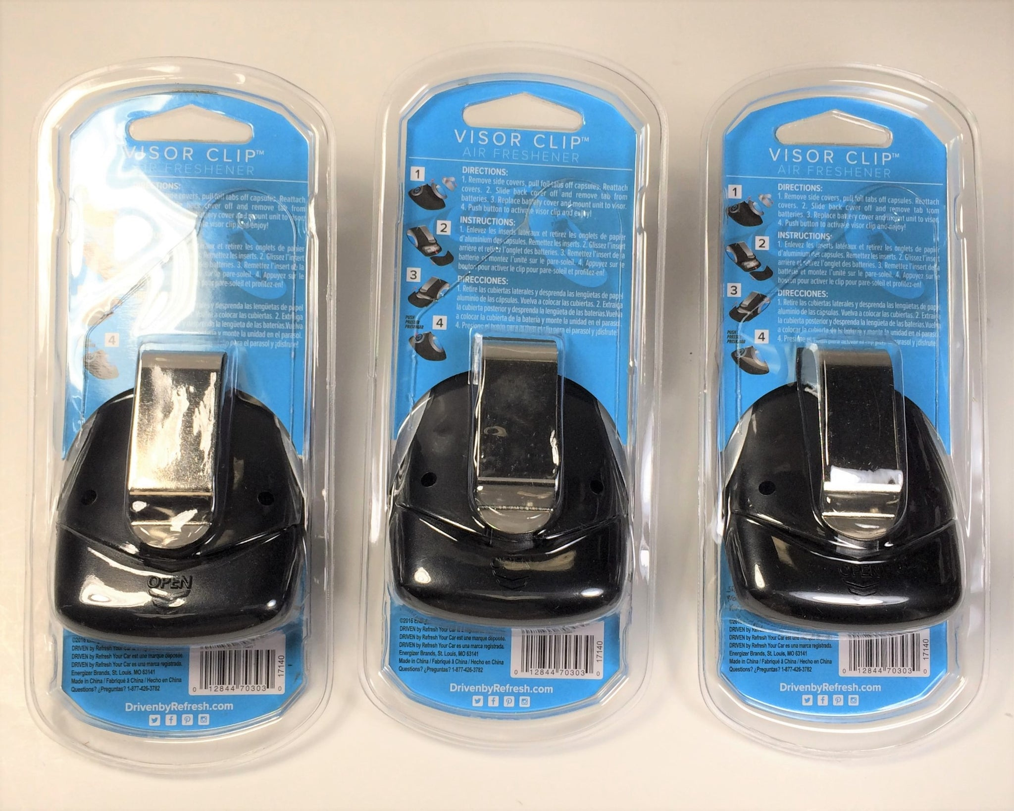 Driven by Refresh Your Car Visor Clip Air Freshener