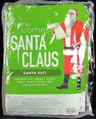 NEW, Santa Claus Santa Suit Costume One Size Fits Most RED