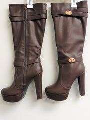 Bamboo Archer 05 Knee High Boot in Brown US Size 7.5