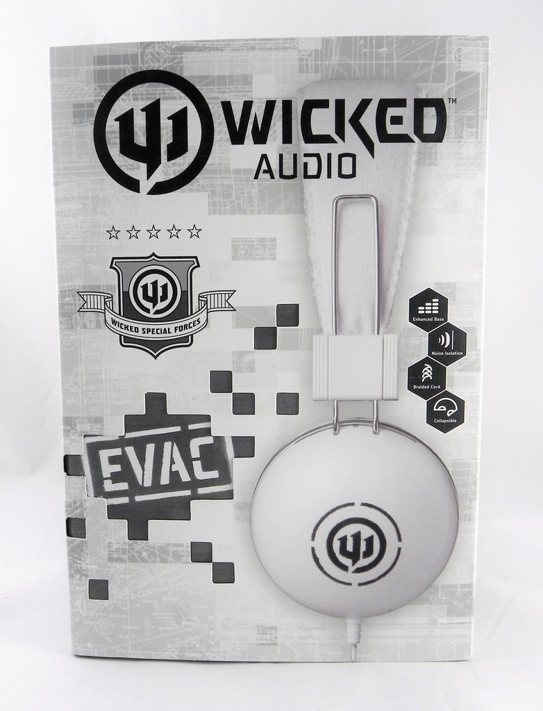 Wicked Audio Evac On-Ear Headphones, WI-8502 White