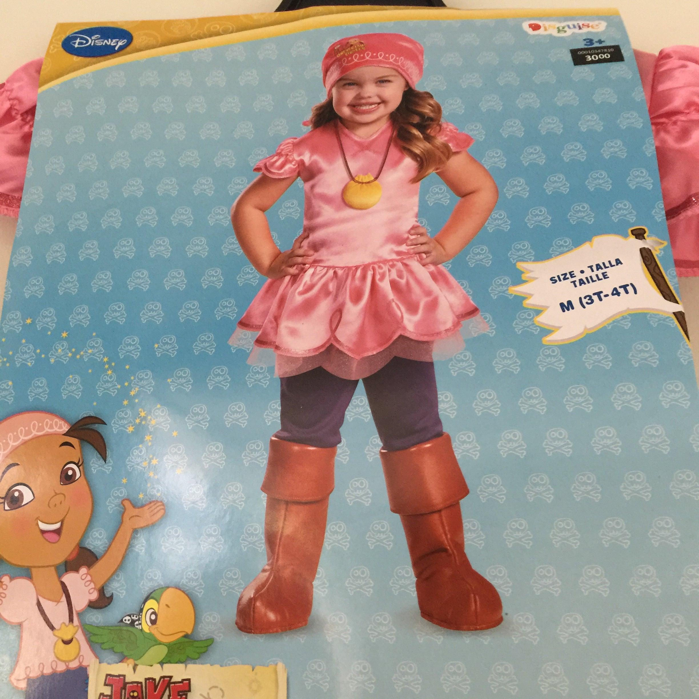 new, izzy from jake and the neverland pirate deluxe toddler