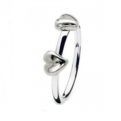 NEW Genuine Spinning Jewelry Stackable Silver Ring 184-00