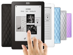 "Kobo Touch eReader 905 2GB, WiFi, 6"" 4 Colors With Free Clip Light"