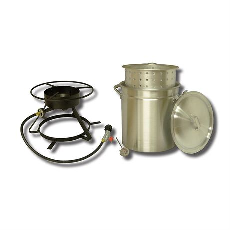 New, King Kooker 50 qt. Outdoor Boiling and Steaming Cooker Package (open box) *PickupOnly - B