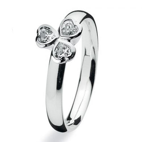 NEW Genuine Spinning Jewelry Stackable Silver Ring 702-01