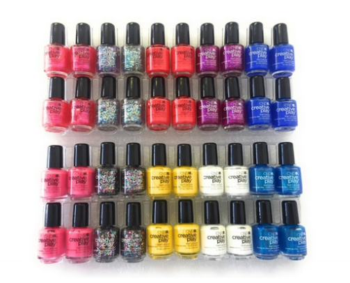 LOT of 90 Pack (40 pcs pr pack) CND Creative Play Pinky 0.125 oz 40 pack 4 mini bottles of 10 shades