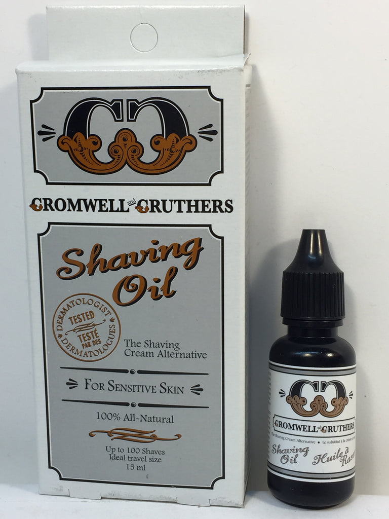 Cromwell & Cruthers Shaving Oil For Sensitive Skin 100% All Natural- 15ml