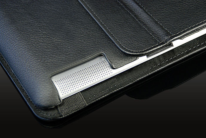 360 Ipad 2/3 Magnetic Leather Case- Black