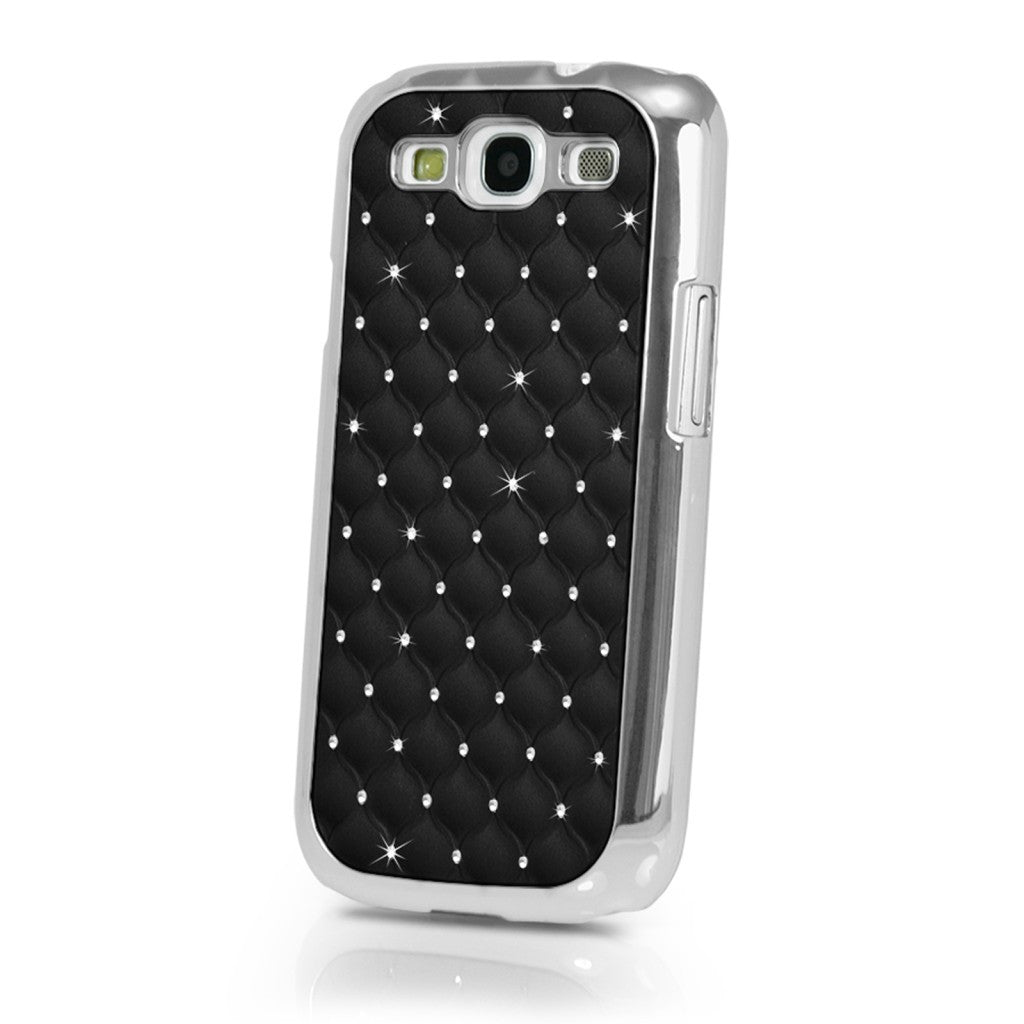 Samsung Galaxy S3 SIII Luxury Bling Case With Diamonds - Black - LiquidationOutlet.ca