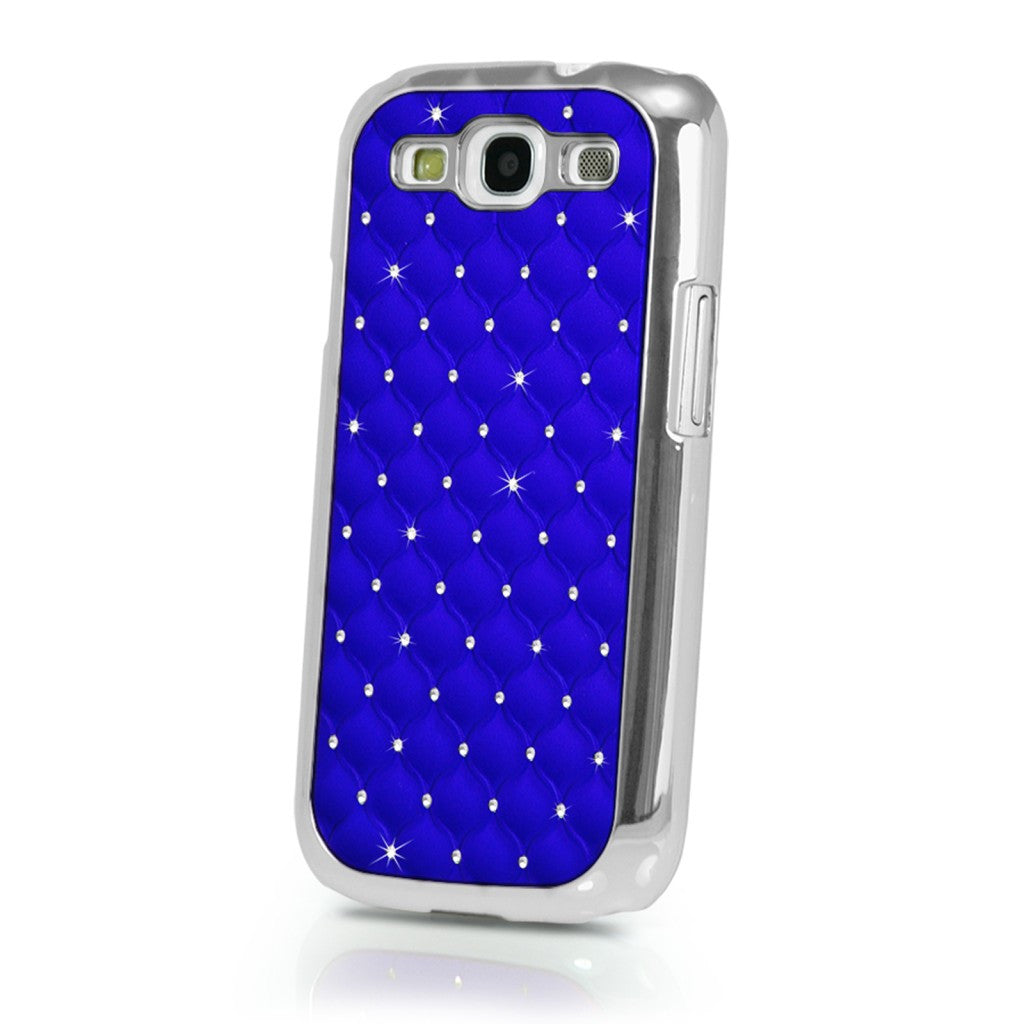 Samsung Galaxy S3 SIII Luxury Bling Case With Diamonds - Blue - LiquidationOutlet.ca