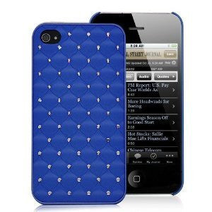 Bling Case for Iphone 4 - Blue