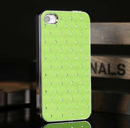 Bling Case for Iphone 4 - Green - LiquidationOutlet.ca