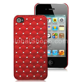 Bling Case for Iphone 4 - red - LiquidationOutlet.ca