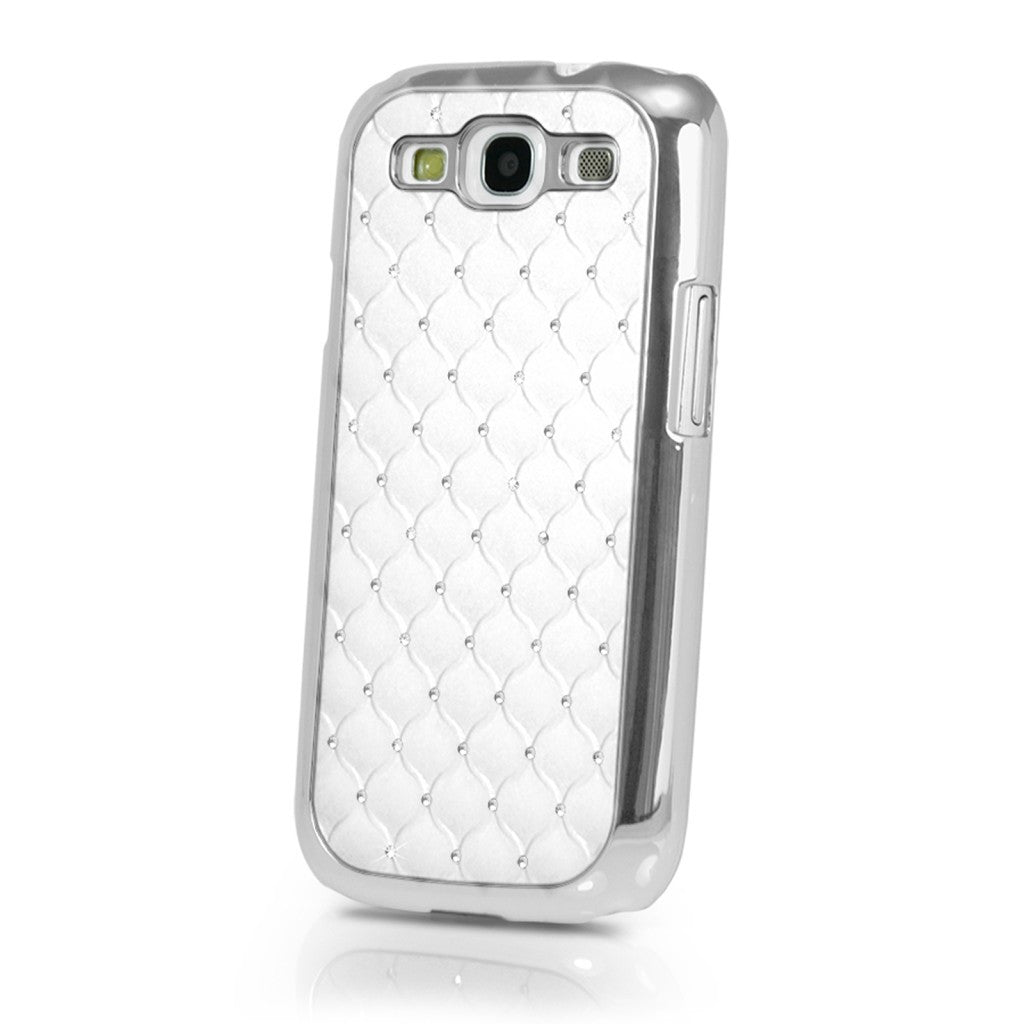 Samsung Galaxy S3 SIII Luxury Bling Case With Diamonds - White - LiquidationOutlet.ca
