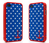 Blue Polka Iphone 4 Case - LiquidationOutlet.ca