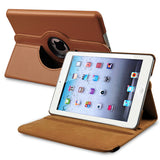 iPad Mini 360 Leaher Rotating Case Cover - Brown - LiquidationOutlet.ca