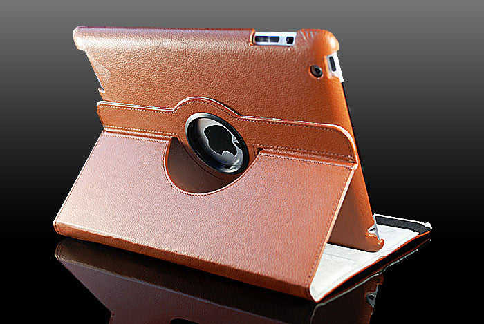 360 Ipad 5 Air Magnetic Leather Case- Brown - LiquidationOutlet.ca