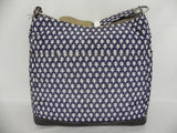 Brand New, OiOi - Hobo Navy/White Mini Geo Two Pocket Baby Changing Bag (6608)