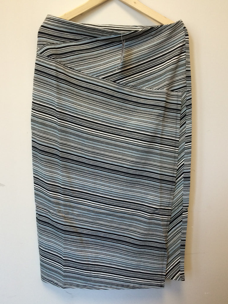 f4d6097f121 SALE  J.Jill Women s Maxi Long Skirt Stripe Side Slits Deep Blue MSRP- 89