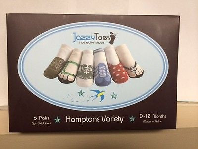 Jazzy Toes Socks Boy Girl 6 pairs many sizes available