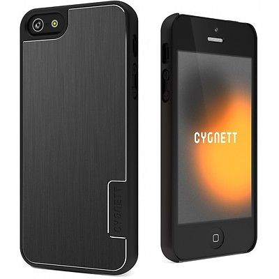 Cygnett UrbanShield Hard Metal Aluminium Cover Case for iPhone 5 Silver