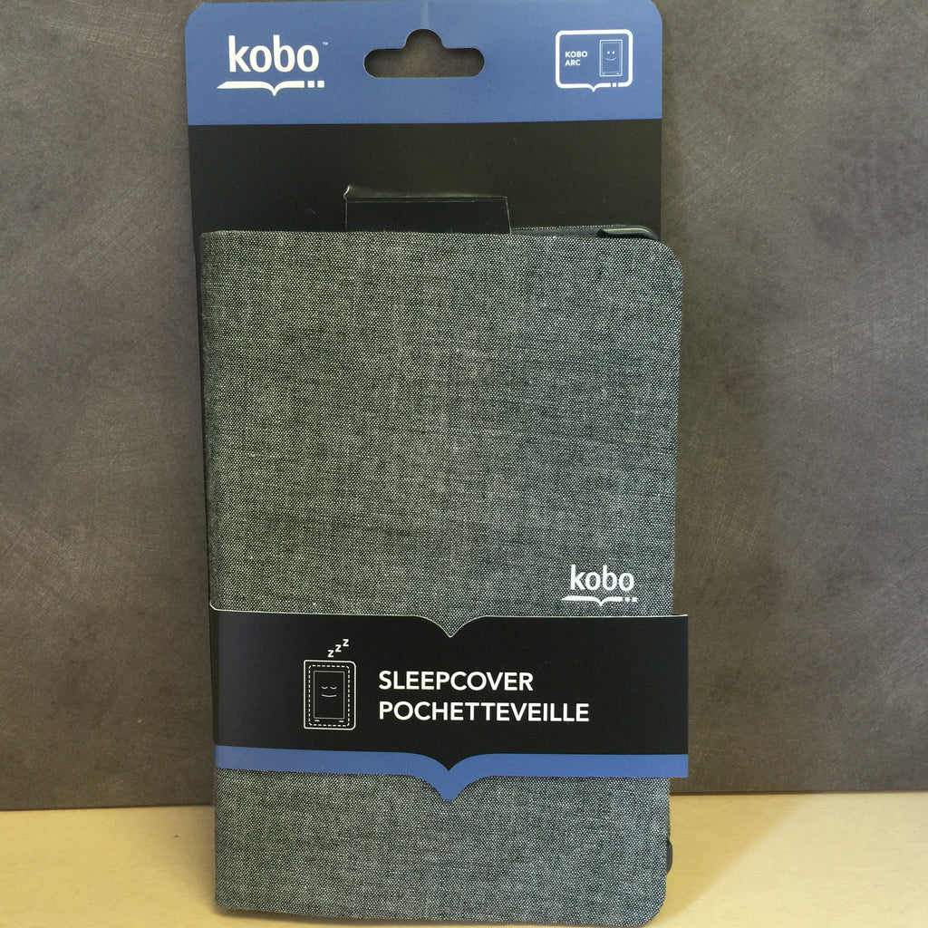 NEW, Leather SleepCover Case Grey for Kobo Arc 64 Gb
