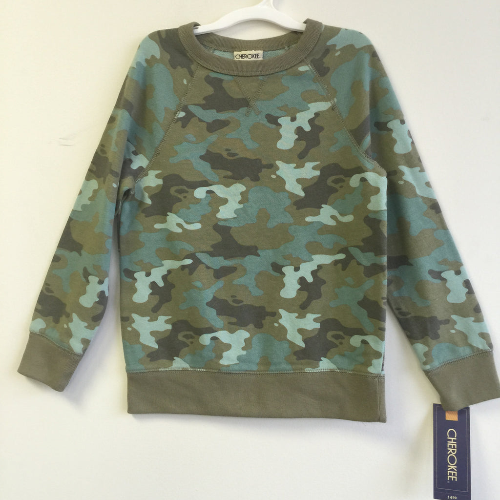 NEW, Cherokee Boy's Camouflage French Terry Sweatshirt