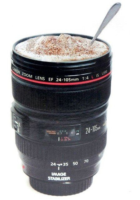 Camera Lens Cup Thermos Travel Tea Coffee Hot/Cold Mug Cup - LiquidationOutlet.ca