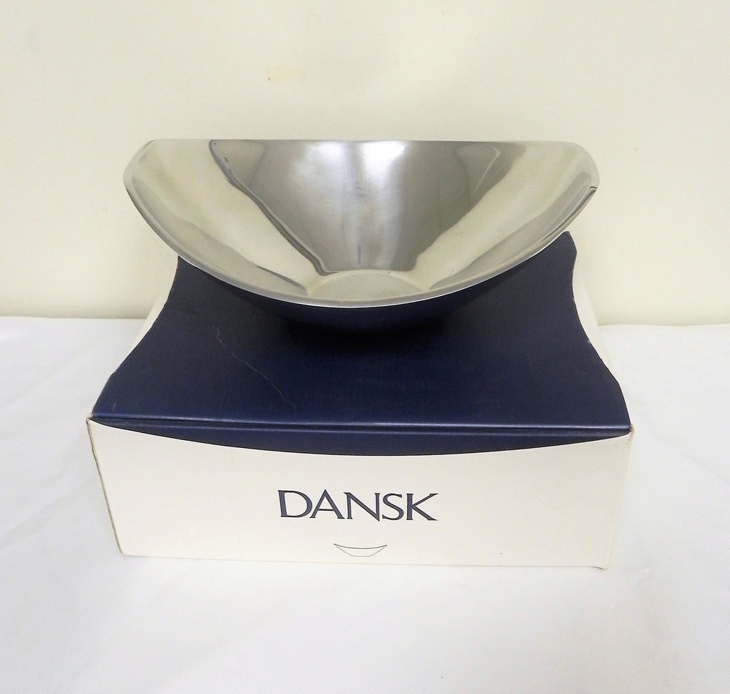 New Dansk Classic Fjord Metal Medium Boat Bowl 2.5qt/2.4L 827811